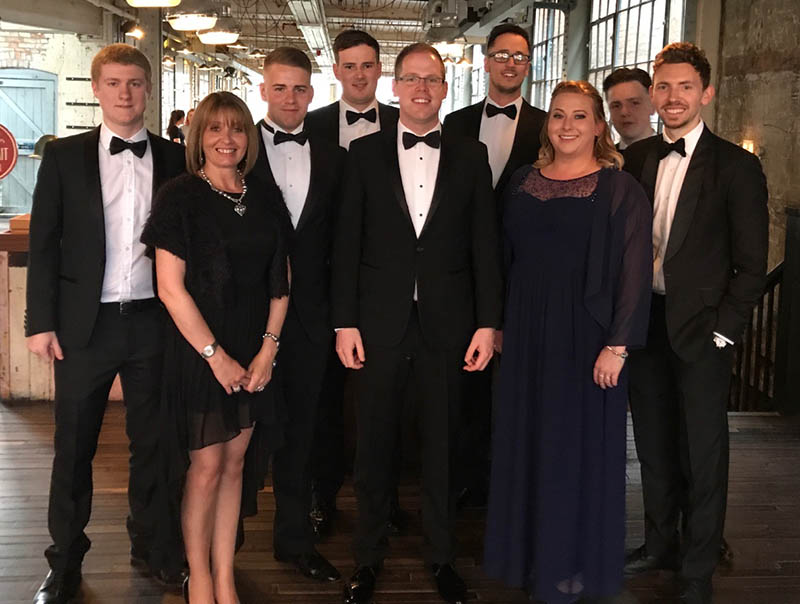 MNE team at Leicester Mercury business awards 2017