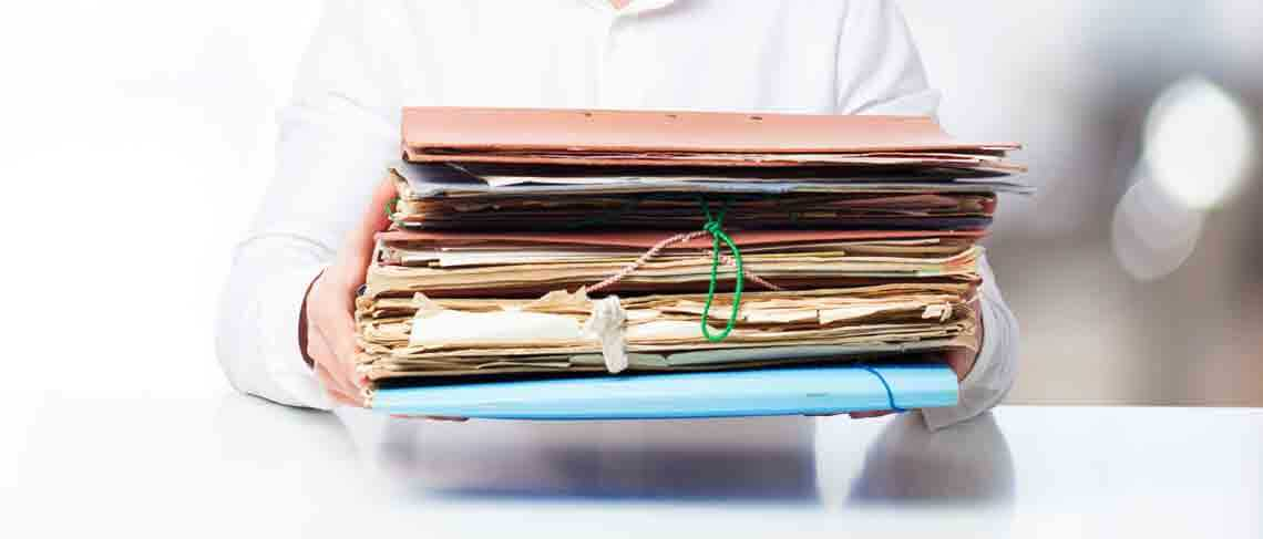old accounting files