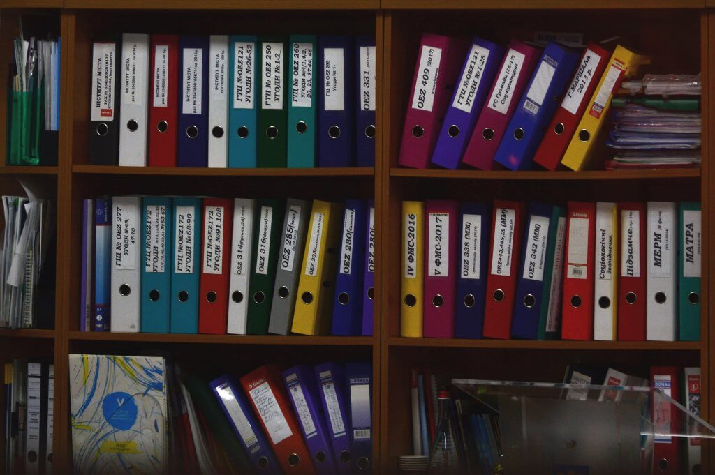 files stored on shelf
